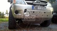 Aluminiowa osłona przodu wraz z rozbudowany wzmocnieniem czołowym i uchwytem na Leda-a do Toyoty Hilux