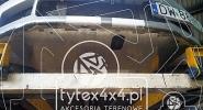 Aluminiowa osłona silnika zamocowana do dedykowanej konstrukcji stalowej Mitsubishi Lancer Evo