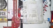 Uchwyt na kanister o pojemności 10l. i Hi-Lifta do Toyoty Hzj 78