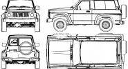 Nissan Patrol Y60-rzuty